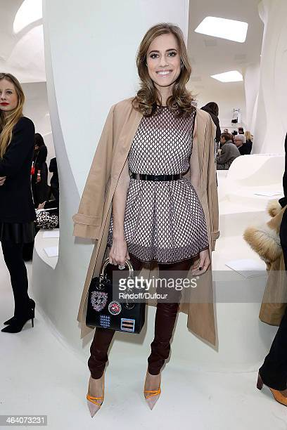 Allison Williams attends the Christian Dior show as part of Paris Fashion Week Haute Couture Spring/Summer 2014 on January 20 2014 in Paris France