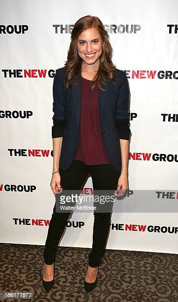 Allison Williams attends the 'Crimes Of The Heart' benefit reading for The New Group at Acorn Theatre on October 28 2013 in New York City