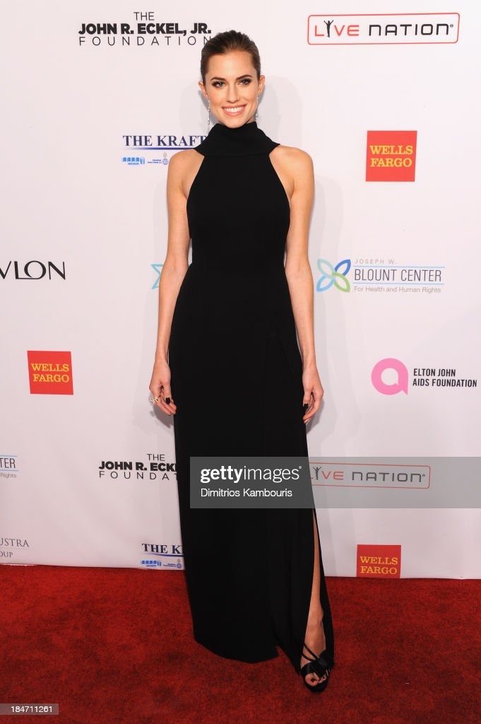Allison Williams attends the Elton John AIDS Foundation's 12th Annual An Enduring Vision Benefit at Cipriani Wall Street on October 15, 2013 in New York City.