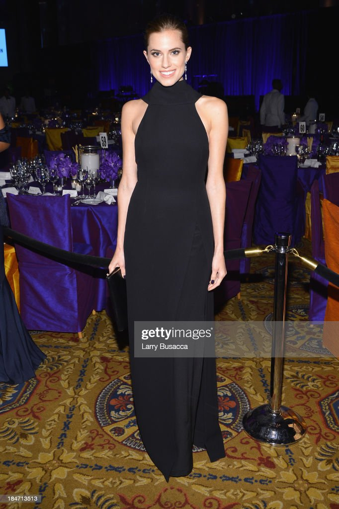 <a gi-track='captionPersonalityLinkClicked' href=/galleries/search?phrase=Allison+Williams+-+Actress&family=editorial&specificpeople=594198 ng-click='$event.stopPropagation()'>Allison Williams</a> attends the Elton John AIDS Foundation's 12th Annual An Enduring Vision Benefit at Cipriani Wall Street on October 15, 2013 in New York City.