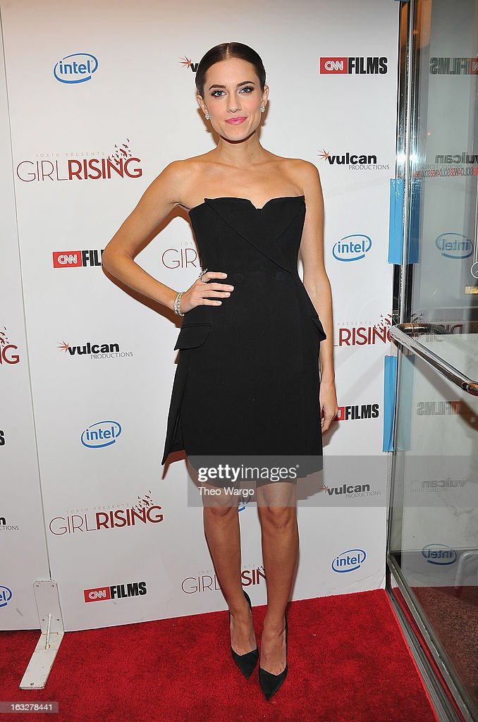 <a gi-track='captionPersonalityLinkClicked' href=/galleries/search?phrase=Allison+Williams+-+Actress&family=editorial&specificpeople=594198 ng-click='$event.stopPropagation()'>Allison Williams</a> attends the 'Girl Rising' premiere at The Paris Theatre on March 6, 2013 in New York City.