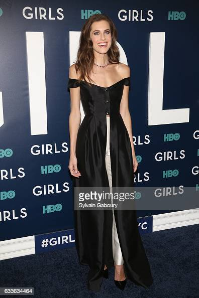 Allison Williams attends The New York Premiere of the Sixth Final Season of 'Girls' at Alice Tully Hall on February 2 2017 in New York City