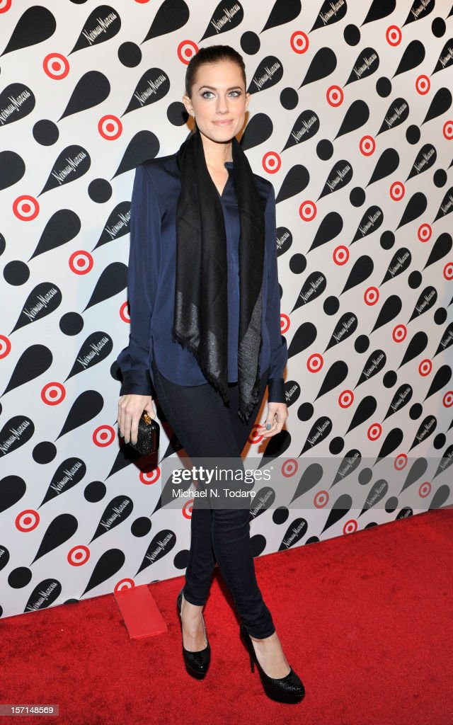Allison Williams attends the Target + Neiman Marcus Holiday Collection launch on November 28, 2012 in New York City.