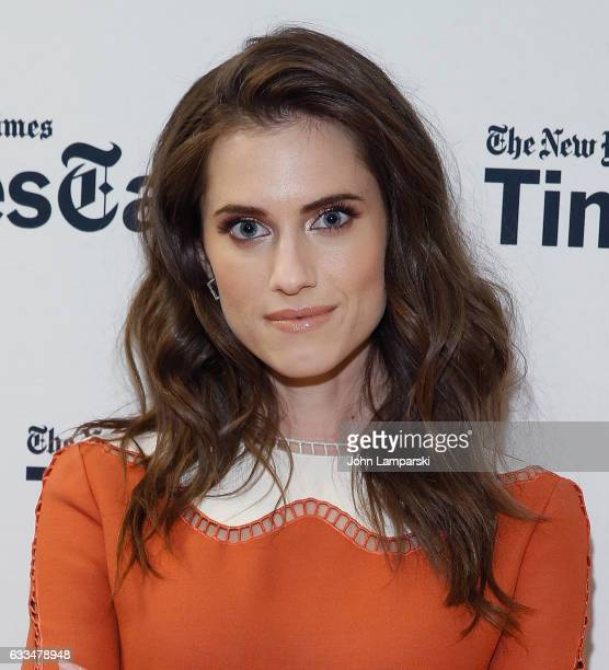 Allison Williams attends TimesTalks A Final Farewell to the cast of HBO's 'Girls' at NYU Skirball Center on February 1 2017 in New York City