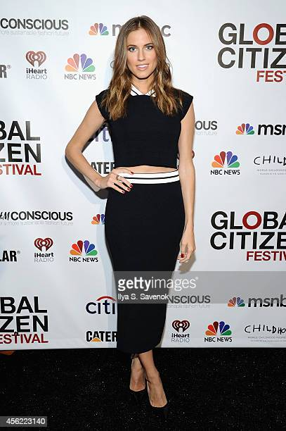 Allison Williams attends VIP Lounge at the 2014 Global Citizen Festival to end extreme poverty by 2030 in Central Park on September 27 2014 in New...