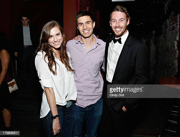 Allison Williams Ricky Van Veen and Jake Hurwitz attends CollegeHumor Offline Annual Production at Gramercy Theatre on August 8 2013 in New York City