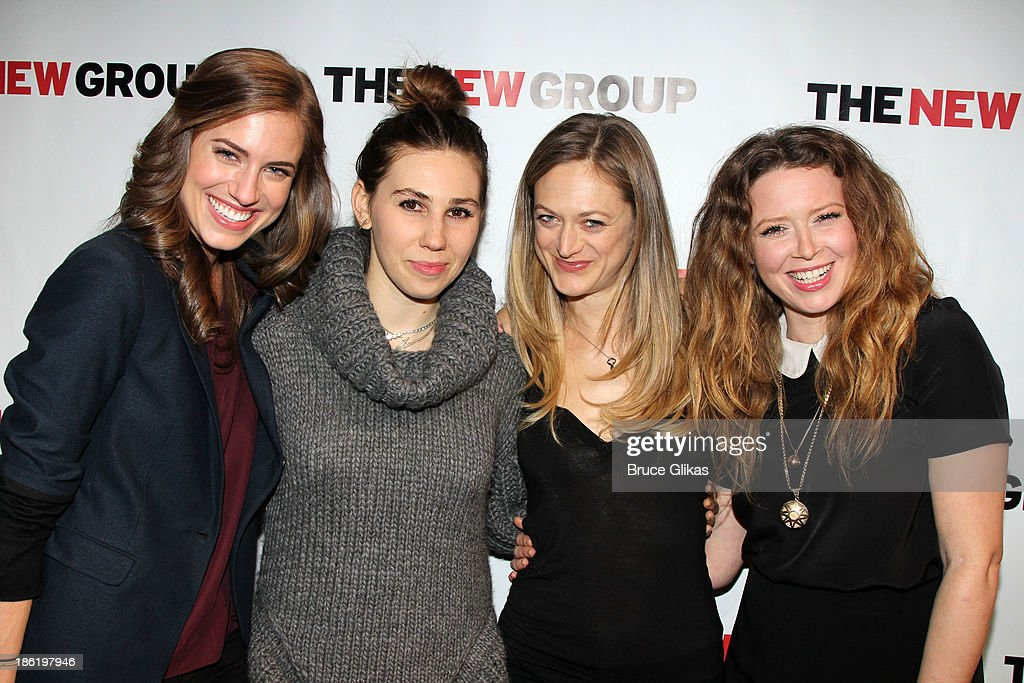 <a gi-track='captionPersonalityLinkClicked' href=/galleries/search?phrase=Allison+Williams+-+Actress&family=editorial&specificpeople=594198 ng-click='$event.stopPropagation()'>Allison Williams</a>, <a gi-track='captionPersonalityLinkClicked' href=/galleries/search?phrase=Zosia+Mamet&family=editorial&specificpeople=7439328 ng-click='$event.stopPropagation()'>Zosia Mamet</a>, <a gi-track='captionPersonalityLinkClicked' href=/galleries/search?phrase=Marin+Ireland&family=editorial&specificpeople=4266013 ng-click='$event.stopPropagation()'>Marin Ireland</a> and <a gi-track='captionPersonalityLinkClicked' href=/galleries/search?phrase=Natasha+Lyonne&family=editorial&specificpeople=1537481 ng-click='$event.stopPropagation()'>Natasha Lyonne</a> pose at The New Group benefit reading of 'Crimes of The Heart' at The Acorn Theater on October 28, 2013 in New York City.