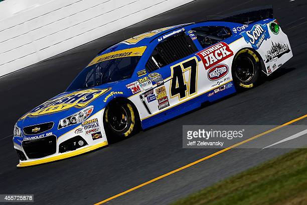Allmendinger driver of the Bush's Beans Chevrolet practices for the NASCAR Sprint Cup Series Sylvania 300 at New Hampshire Motor Speedway on...