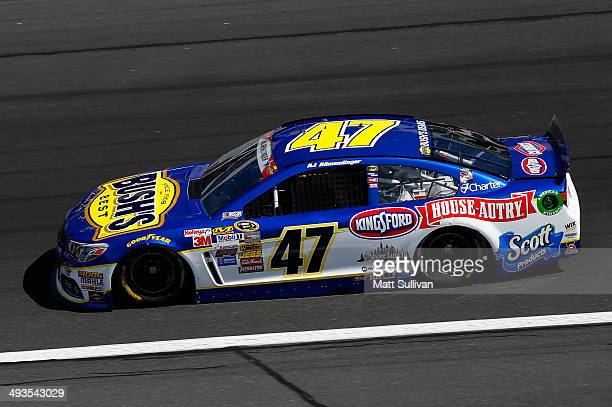 Allmendinger driver of the Bush's Beans Chevrolet practices for the NASCAR Sprint Cup Series CocaCola 600 at Charlotte Motor Speedway on May 24 2014...