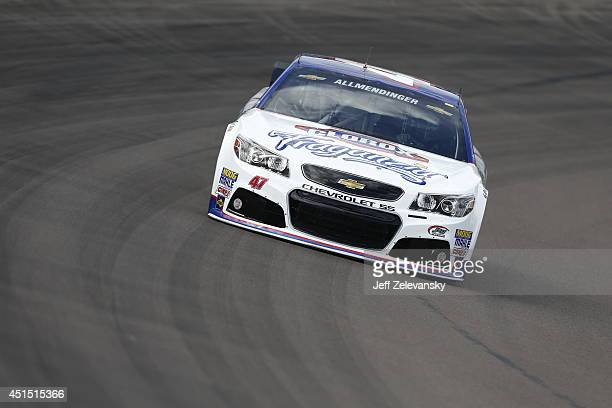 Allmendinger driver of the Clorox Fraganzia Chevrolet during practice for the NASCAR Sprint Cup Series The Profit on CNBC 500 at Phoenix...