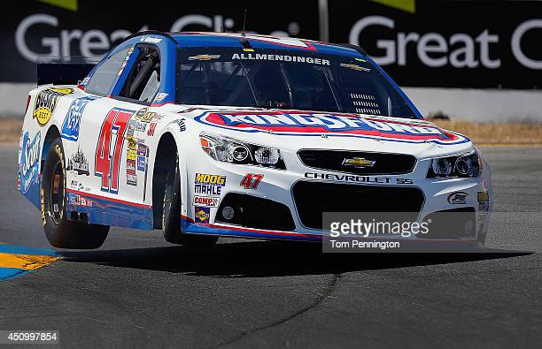 Allmendinger driver of the Clorox/Kingsford Chevrolet drives during qualifying for the NASCAR Sprint Cup Series Toyota/Save Mart 350 at Sonoma...