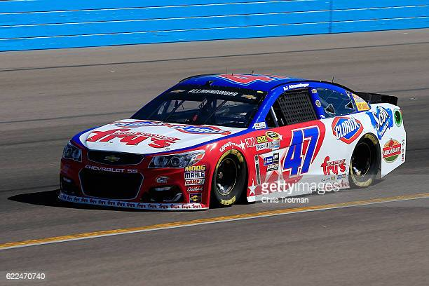 Allmendinger driver of the Fry's/Clorox Chevrolet practices for the NASCAR Sprint Cup Series CanAm 500 at Phoenix International Raceway on November...