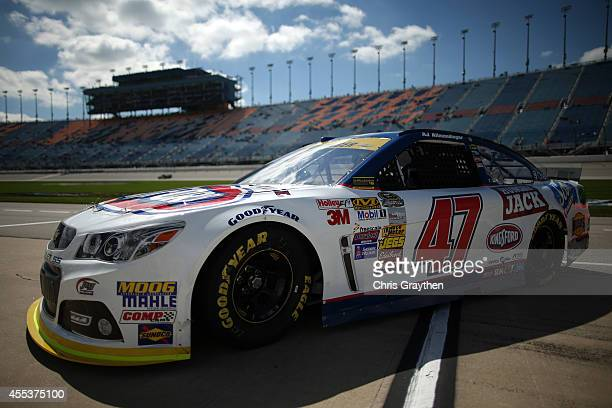 Allmendinger driver of the Kingsford Charcoal Chevrolet drives during practice for the NASCAR Sprint Cup Series MyAFibStorycom 400 at Chicagoland...