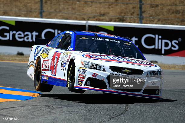 Allmendinger driver of the Kingsford Charcoal Chevrolet qualifies for the NASCAR Sprint Cup Series Toyota/Save Mart 350 at Sonoma Raceway on June 27...