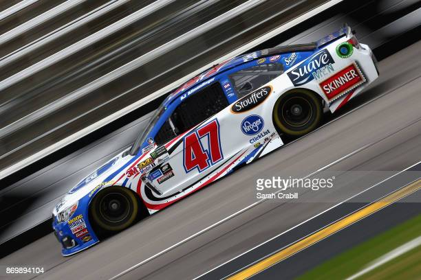 Allmendinger driver of the Kroger ClickList Chevrolet drives during practice for the Monster Energy NASCAR Cup Series AAA Texas 500 at Texas Motor...