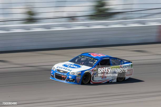 Allmendinger driver of the Kroger ClickList Chevrolet races during the Monster Energy Cup Series Firekeepers Casino 400 race on June 18 2017 at...