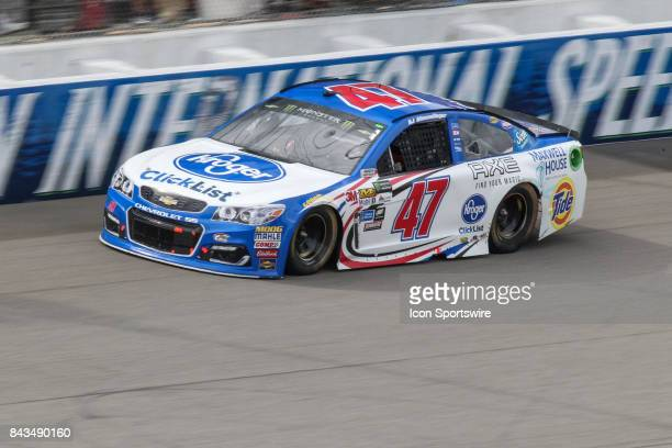 Allmendinger driver of the Kroger ClickList Chevrolet races during the Monster Energy NASCAR Cup Series Pure Michigan 400 race on August 13 2017 at...