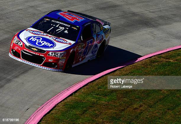 Allmendinger driver of the Kroger/Clorox Chevrolet practices for the NASCAR Camping World Truck Series Texas Roadhouse 200 presented by Alpha Energy...