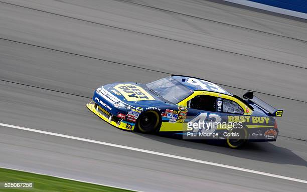 AJ Allmendinger in the Best Buy Ford during the first day at the Auto Club 500