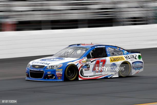 Allmendinger Monster Energy NASCAR Cup Series driver of the Kroger ClickList Chevrolet during qualifying for the Overton's 301 on July 14 at New...
