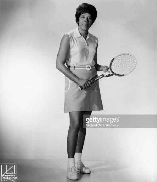 Allround athlete Althea Gibson poses for a portrait circa 1970 in New York City New York
