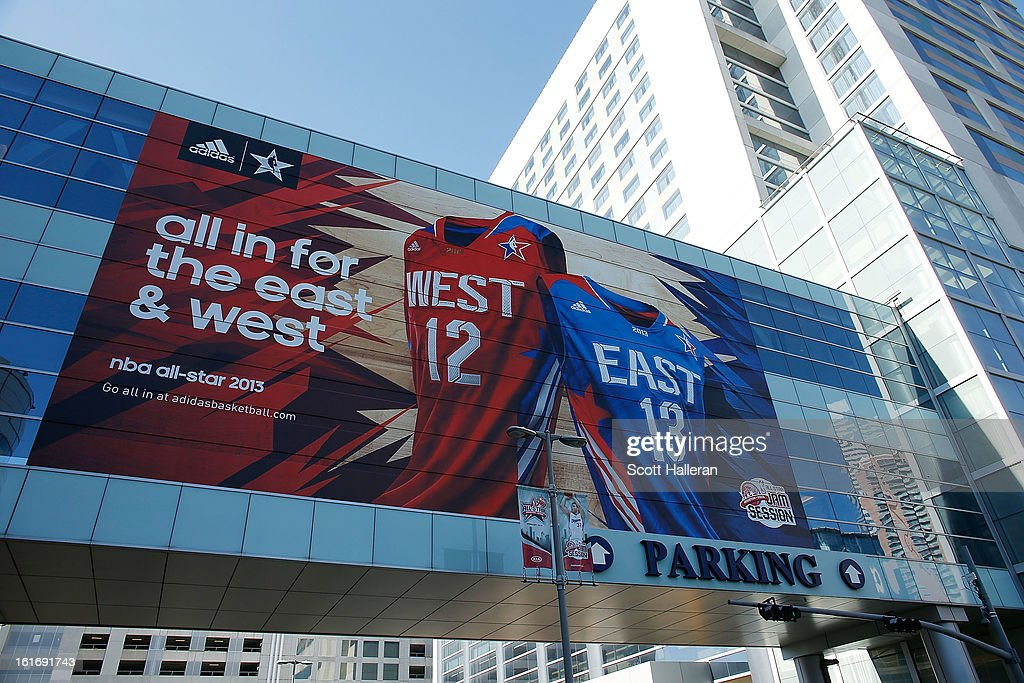 All-Star 2013 signage is seen near the Toyota Center on February 14, 2013 in Houston, Texas.