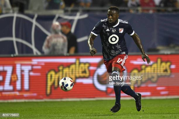 AllStar and Toronto FC Forward Jozy Altidore controls the ball in the first half during a soccer match between the MLS AllStars and Real Madrid on...