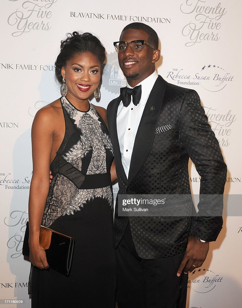 All-Star Chris Paul (R) and wife Jada Crawley attend LA's Best 25th Anniversary Gala at The Beverly Hilton Hotel on June 22, 2013 in Beverly Hills, California.