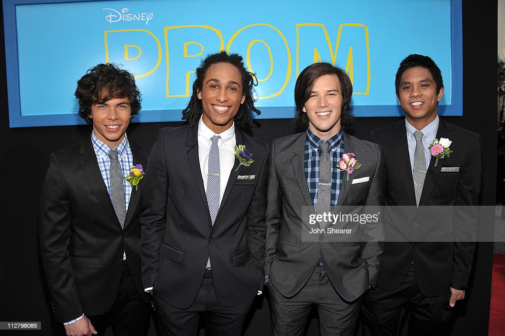 Allstar Weekend arrive to the 'Prom' World Premiere at the El Capitan Theatre on April 21, 2011 in Hollywood, California.