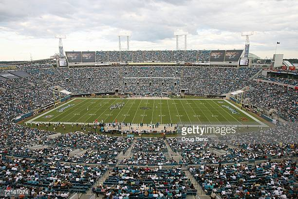 Alltel Stadium is shown during the Jacksonville Jaguars game against the New York Jets at Alltel Stadium on October 8 2006 in Jacksonville Florida...