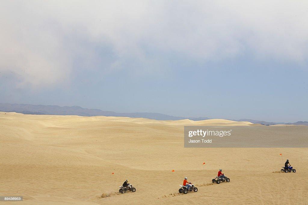 All-terrain vehicles at Pismo Beach Dunes : Stock Photo