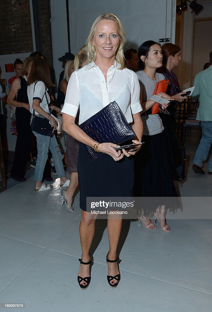 Allure Editor in Chief Linda Wells attends the Zac Posen fashion show during Mercedes-Benz Fashion Week Spring 2014 at Center 548 on September 8, 2013 in New York City.