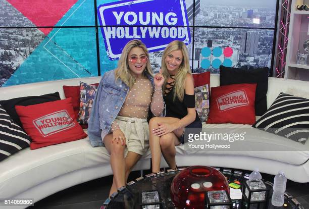 Ally Brooke and Tracy Behr at the Young Hollywood Studio on July 13 2017 in Los Angeles California