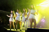 Ally Brooke Hernandez Normani Hamilton Lauren Jauregui Camila Cabello and Dinah Jane Hansen of Fifth Harmony perform onstage at DigiTour Media...
