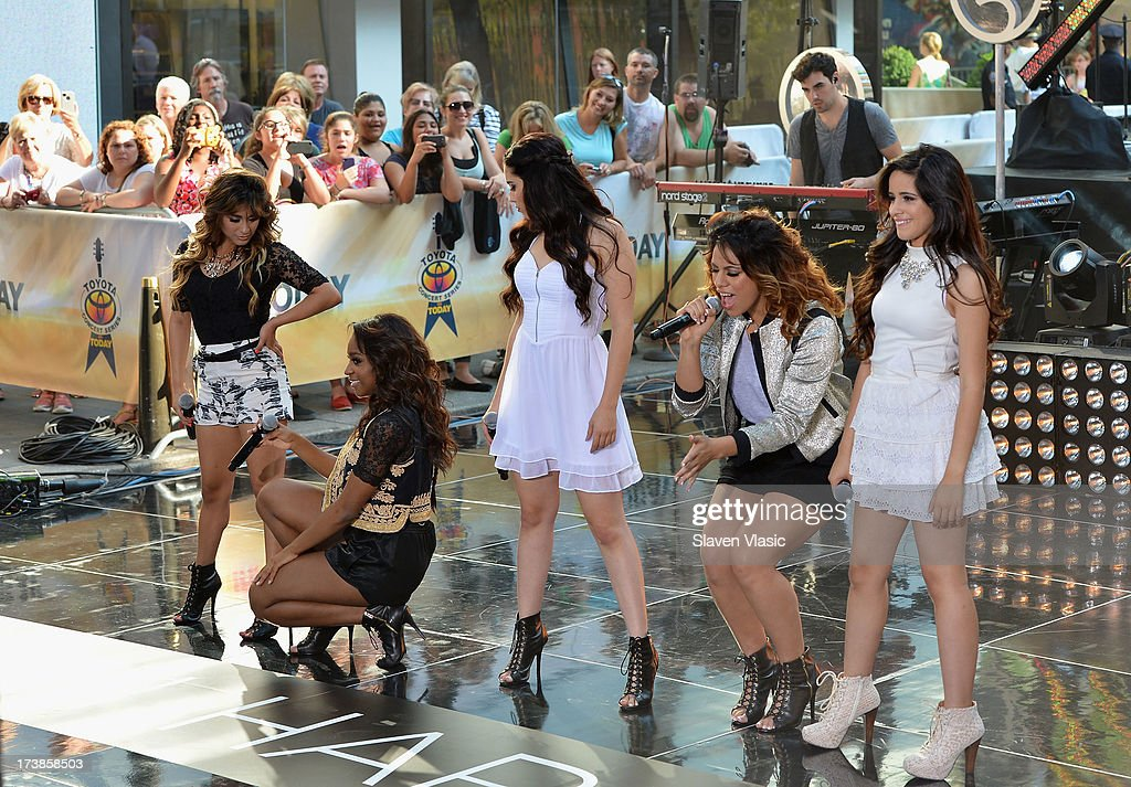 Ally Brooke Hernandez, Normani Hamilton, Lauren Jauregui, Dinah Jane Hansen and Camila Cabello of Fifth Harmony perform at NBC's TODAY Show on July 18, 2013 in New York City.