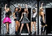 Ally Brooke Normani Hamilton Lauren Jauregui Camila Cabello and DinahJane Hansen of Fifth Harmony performs in concert at The Palace of Auburn Hills...
