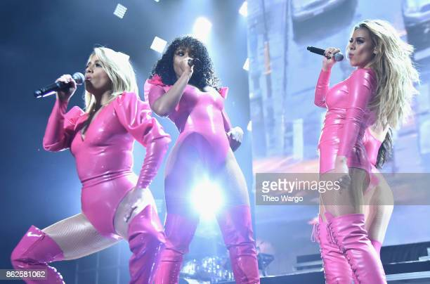 Ally Brooke Normani Kordei and Dinah Jane of Fifth Harmony perform onstage during TIDAL X Brooklyn at Barclays Center of Brooklyn on October 17 2017...