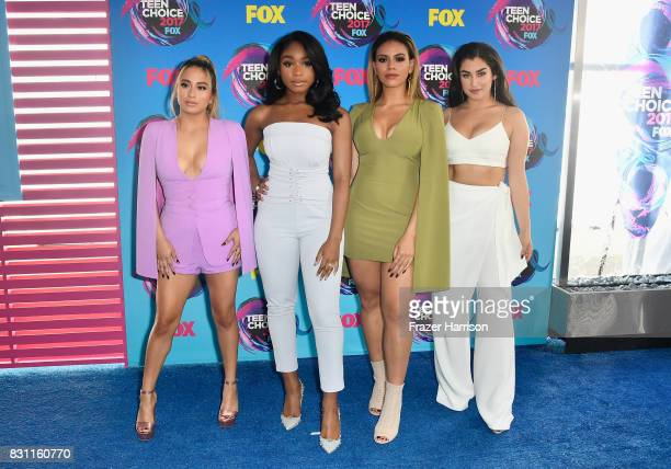 Ally Brooke Normani Kordei Dinah Jane and Lauren Jauregui of Fifth Harmony attends the Teen Choice Awards 2017 at Galen Center on August 13 2017 in...