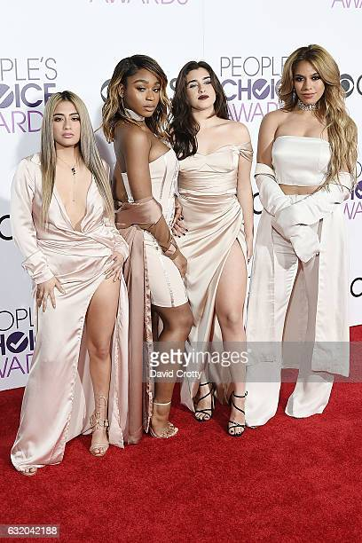 Ally Brooke Normani Kordei Lauren Jauregui and Dinah Jane of Fifth Harmony attend the People's Choice Awards 2017 Arrivals at Microsoft Theater on...