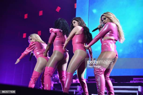 Ally Brooke Normani Kordei Lauren Jauregui and Dinah Jane of Fifth Harmony perform onstage during TIDAL X Brooklyn at Barclays Center of Brooklyn on...