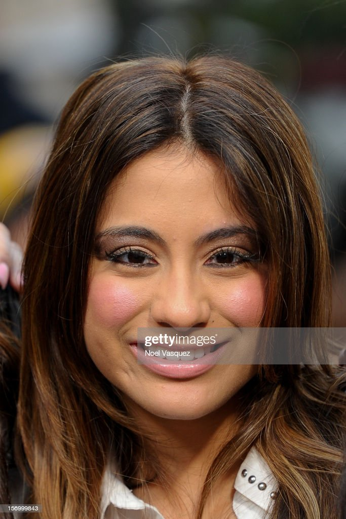 Ally Brooke of Fifth Harmony visits 'Extra' at The Grove on November 26, 2012 in Los Angeles, California.