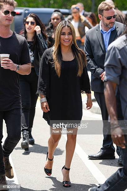 Ally Brooke of Fifth Harmony visits 'Extra' at Universal Studios Hollywood on May 12 2015 in Universal City California