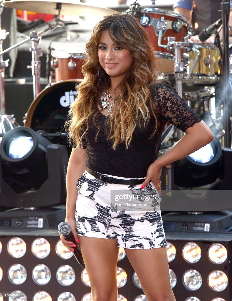 Ally Brooke of the band Fifth Harmony performs on NBC's 'Today' at Rockefeller Plaza on July 18, 2013 in New York City.