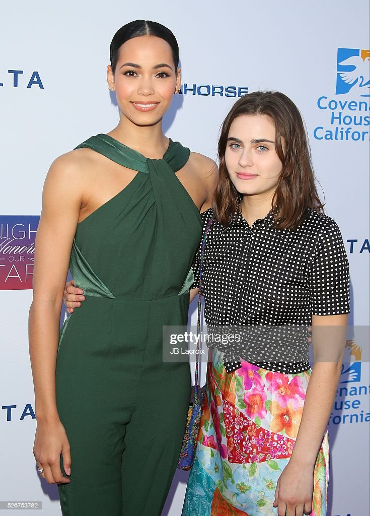 Ally Loannides and Madeleine Mantock attend Covenant House Of California's Annual Fundraising Gala, A Night Honoring Our Stars at The Globe Theatre at Universal Studios on April 30, 2016 in Universal City, California.