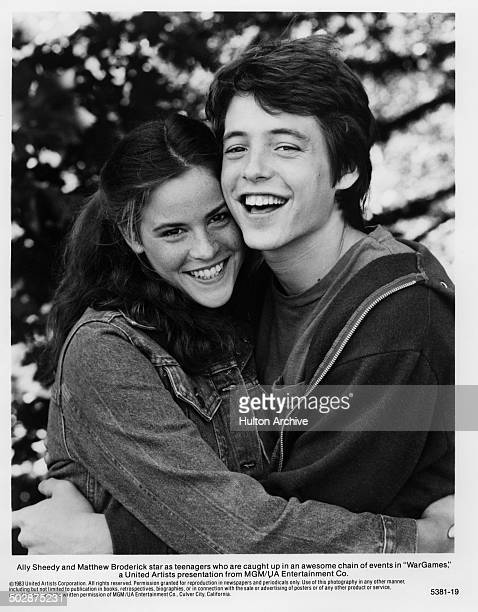 Ally Sheedy and Matthew Broderick pose for the MGM/UA movie 'WarGames' circa 1983