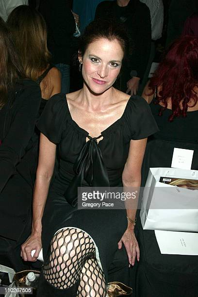 Ally Sheedy during Olympus Fashion Week Spring 2006 Zac Posen Front Row and Backstage at Bryant Park in New York City New York United States
