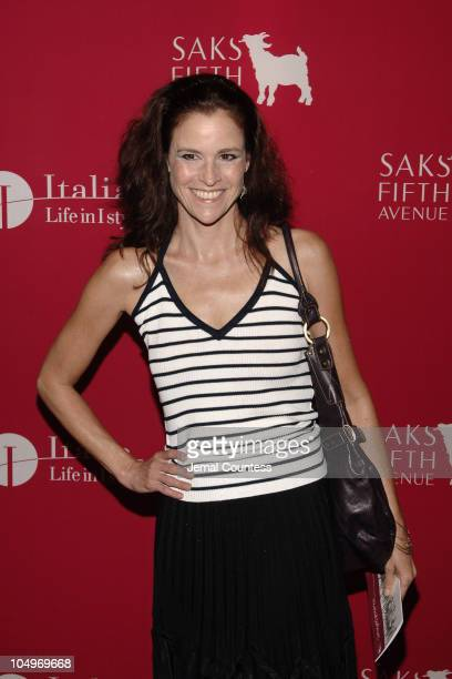Ally Sheedy during SAKS Fifth Avenue 'Wild about Cashmere' Launch Party Arrivals at SAKS Fifth Avenue in New York City New York United States