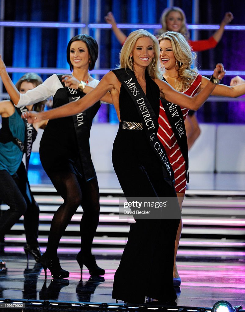 Allyn Rose, Miss District of Columbia, dances during the opening of the 2013 Miss America Pageant at PH Live at Planet Hollywood Resort & Casino on January 12, 2013 in Las Vegas, Nevada.