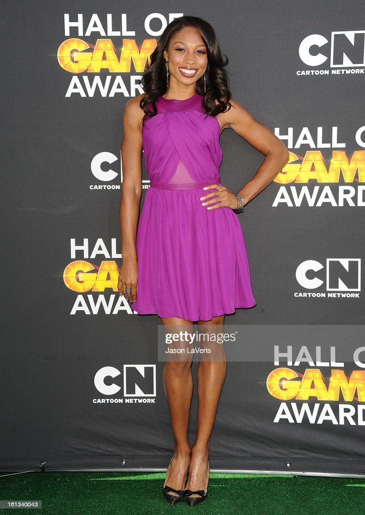 Allyson Felix attends the Cartoon Network 3rd annual Hall Of Game Awards at Barker Hangar on February 9, 2013 in Santa Monica, California.