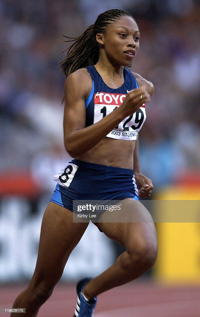Allyson Felix of the United States in the second round of the 200 meters in the IAAF World Championships in Athletics at Stade de France on Tuesday...